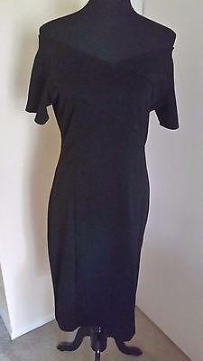 Stylewe  Shes  Black Off Shoulder Midi Dress Elegant U S  Size 10 Nwt