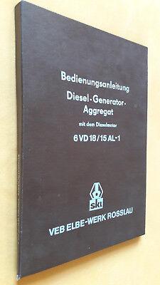 Gebruikt, Bedienungsanleitung Diesel Generator Aggregat, VEB Elbe Werk Rosslau, 1979 tweedehands  verschepen naar Netherlands