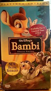 BAMBI VHS PLATINUM EDITION NEW NIP RARE HARD TO FIND WALT DISNEY THUMPER