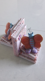 Pink Butterfly Small Bookends