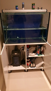 Fish tank and accessories. Light, filter, heater, air pump Sunshine West Brimbank Area Preview