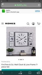 First Time And Co Wall Clock With Picture Frames