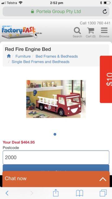 KIDS BED- FIRE TRUCK TRUNDLE | Cots & Bedding | Gumtree Australia ...