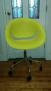 funky, yellow, hydraulic chair Dulwich Hill Marrickville Area Preview