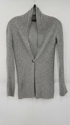 Theory Grey 100% Cashmere Button Up Cardigan Women's M