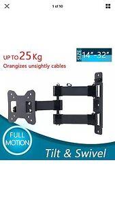 Full motion Tv mount tilt swivel for 17,19,22,24,26,29,30,32 inch Currans Hill Camden Area Preview
