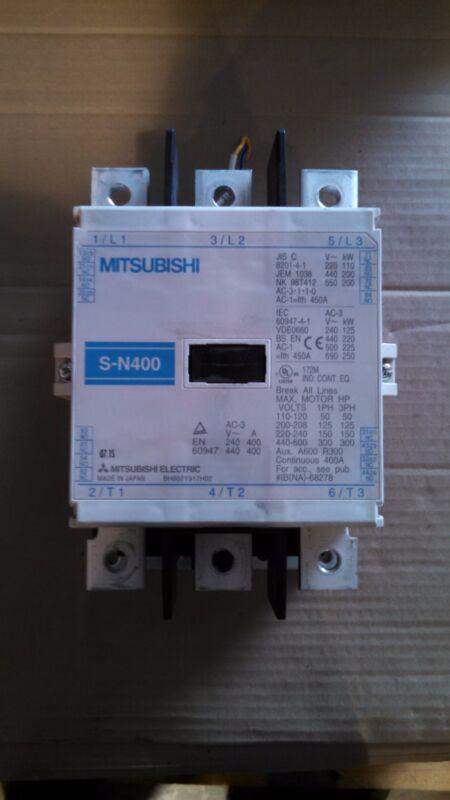 MITSUBISHI CONTACTOR S-N400 SN400 200-240V COIL 3P 1PH 3PH 110-600V