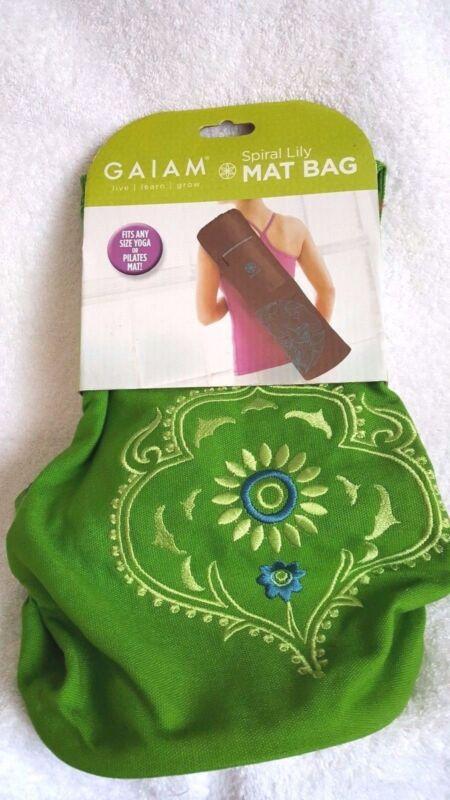 Gaiam Spiral Lily Mat Bag Pilates Yoga Green