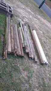12 old fence post treated hardwood an coppers logs Narangba Caboolture Area Preview
