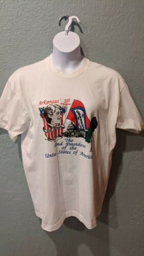 Vintage Bill Clinton Arkansas 1st President T Shirt 1992 Size XL