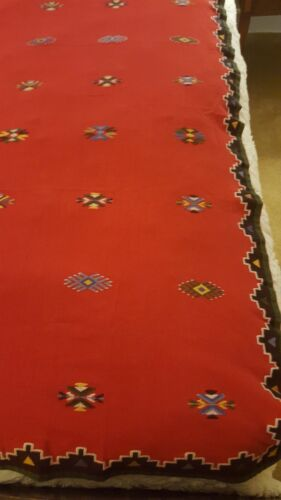 FABULOUS NATIVE AMERICAN TABLECLOTH HAND EMBROIDERED!