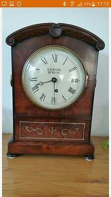 Antique Single fusee bracket clock