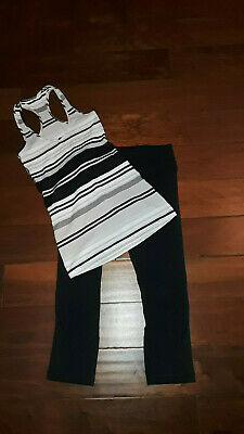 Lululemon Run Inspire Black Capri Leggings & Top, Size 6 - NICE !!!