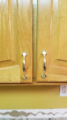 26 gold cabinet handles with screws for sale  White House