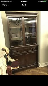 Corner cabinet and buffet table