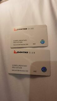 Qantas Club Lounge Passes x2