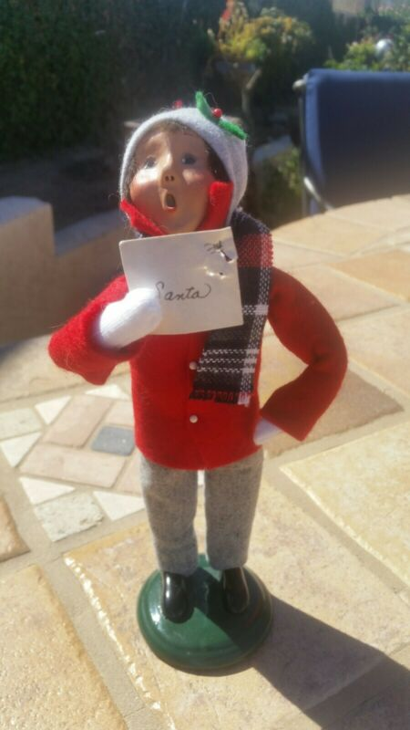 Byers Choice The Caroler 9 Inch With Christmas Mail to Santa 2002