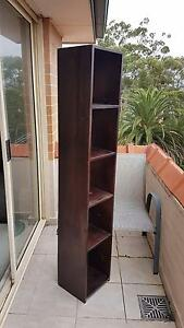Chocolate timber Tallboy bookcase or Shelf for sale Mosman Mosman Area Preview