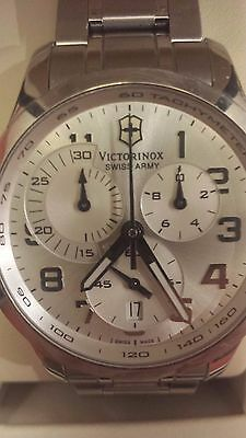 Victorinox Swiss Army Alliance Silver Chronograph Mens Swiss Watch 241296