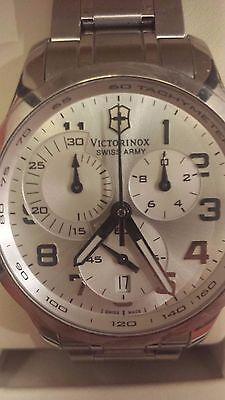 Victorinox Swiss Army Alliance Silver Chronograph Mens Swiss Watch 241296