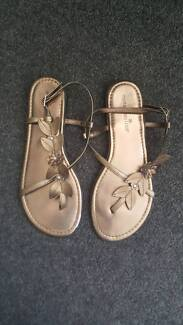 Wedge sandals and bronze leaf thongs Arncliffe Rockdale Area Preview