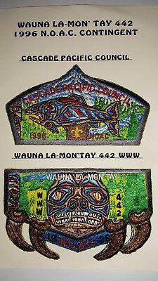 BOY SCOUT PATCH,1996 N.O.A.C. CONTINGENT SET-WAUNA LA-MON'TAY& CASCADE COUNCIL
