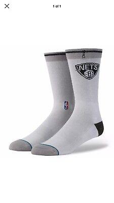 Stocking Stuffers !! NBA Brooklyn Nets Stance Men's Size L Sock MSRP $16.00 - Stocking Stuffers Men