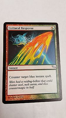 1x GUTTURAL RESPONSE - Rare - Shadowmoor - MTG - NM - Magic the Gathering