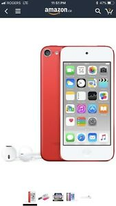 Red I pod touch 62 gig only 100$
