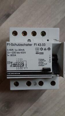 ABL FI 43.03 FI-Schutzschalter,40A/0,03A,4polig