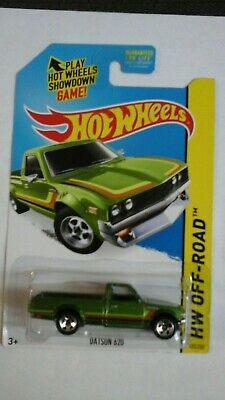 Hot Wheels 2015 HW Off Road Hot Trucks - Datsun 620 Green #125/250 MOC