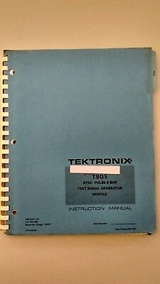 Tektronix Service Manual Tsg5 Ntsc Pulse Bar Test Signal Generator 070-2336-00