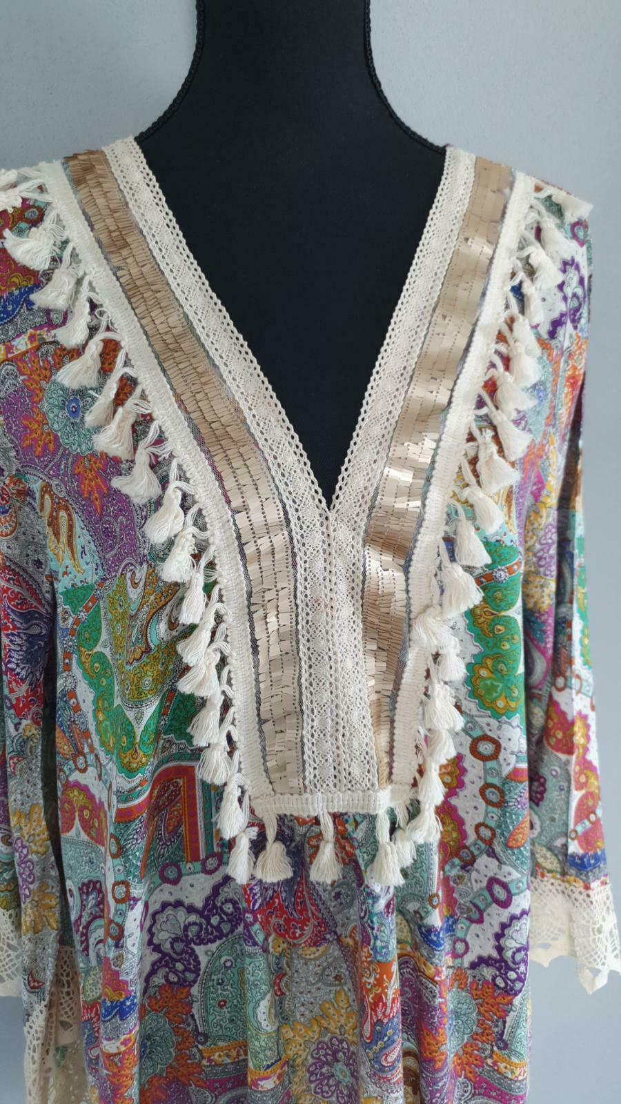 made in italy tunika kleid gr. m/l hippie ibiza style in