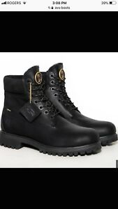 Ovo Timberland boots size 8 all black
