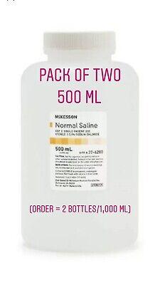 Normal Saline Usp Solution Sodium Chloride 0.9solution Bottle500ml Pack Of 2