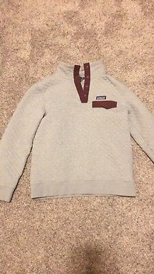 NWT Patagonia Women's Org Cotton Quilt Snap-T Pullover, Drifter Grey, M