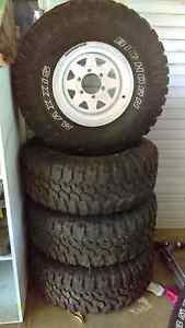Big Horn 33 inch x 4 plus spare with rims near new Rosevale Ipswich South Preview