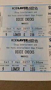 2 x DIXIE CHICKS TIX MELBOURNE SAT 1/4/17 Armidale Armidale City Preview