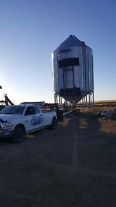 Grain Bin and Freight moving