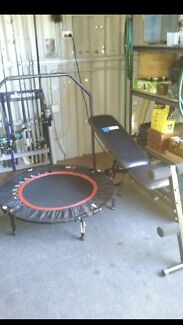 Work out bench & trampoline