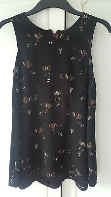 Karl Marc John Size 12 Black White Pink Angel Print Flared
