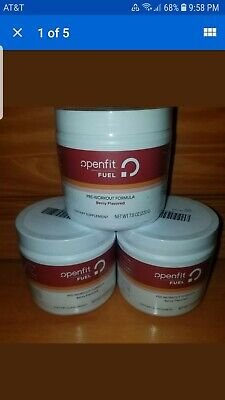 3x Openfit Fuel Pre-Workout Formula 7.8oz. Powder  Berry Flavored BEST BY
