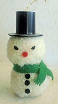 Handmade Yarn Pom Pom Snowman Christmas Tree Ornament