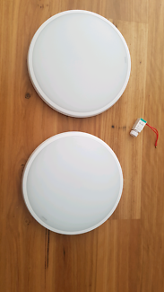 2 X martec lunar 38w dimmable led in cool white and 1 dimmer