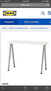 IKEA desk with adjustable leg hight.