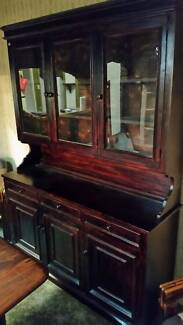 Buffet and Hutch - stained, 2 piece unit
