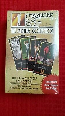 Tiger Woods Rookie - 1998 Grand Slam Ventures Champions Golf Masters Set Sealed