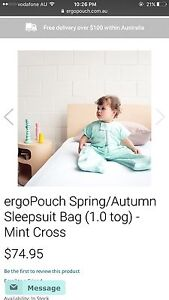 New ergopouch sleeping bag 1.0 tog for sale Cannington Canning Area Preview