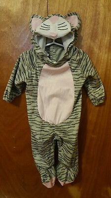 Little Striped Kitten Kitty Cat Costume Child Infant Toddler - 6-12M