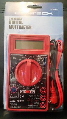 Cen-tech 7 Function Digital Multimeter Multi-tester Dc-ac Voltagebattery Test